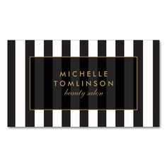 Black and White Stripes Salon III Business Card. This great business card design is available for customization. All text style, colors, sizes can be modified to fit your needs. Just click the image to learn more!