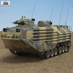 AAV-7 3d model from Humster3D.com