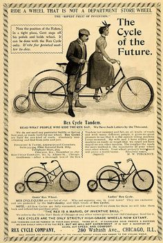 vintage ad - cycling - costume