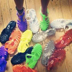 Jelly Bean shoes,I need all of these Jelly Bean Shoes, Jelly Sandals, Shoes Sandals, Flats, Heels, Cute Shoes, Me Too Shoes, Heeled Boots, Shoe Boots