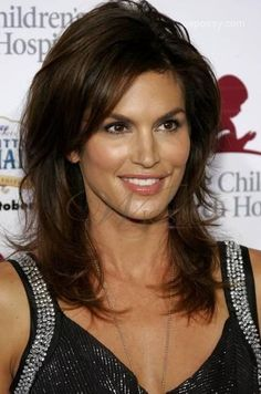 Premier Free Style Medium Layered Straight Dark Brown Lace Wig 100% Human Hair 14 Inches