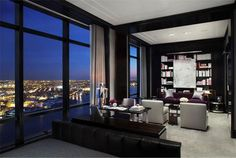 Striking Penthouse Adorning the 77th Floor of the Trump World Tower