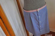 Rock aus Hemd / Skirt made from shirt / Upcycling
