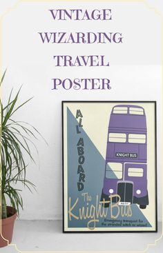 I love this Vintage Knight Bus Poster! It would be perfect on my wall in the hallway. #ad #affiliate #etsyfinds #enamelpins #harrypotter #harrypotterfan #harrypotterforever #posters #wallart #walldecor #Prints