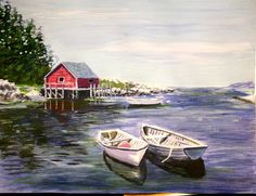 Your place to buy and sell all things handmade Original Paintings For Sale, Original Artwork, Art Christmas Gifts, Canvas Paper, Affordable Art, Boats, Scene, The Originals, Artist