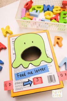 Letter Games For Kids, Letter S Activities, Monster Activities, Preschool Letters, Toddler Learning Activities, Letter A Crafts, Montessori Activities, Preschool Crafts, Preschool Activities