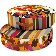 These floor cushions are kind of fun... I can imagine the kid room having some fun patterns or colors...