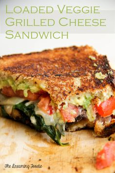 Loaded Veggie Grilled Cheese Sandwich Recipe. Has potential.