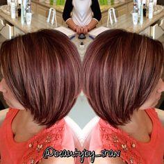 """From blonde to red! #airdrybar #airblowdrybar #lorealpros #dimension #auburnhair #redhair #burgendyhair @airblowdrybar @_terilynn__"""