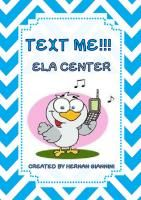 Text Me! ELA Centers - Tasks-Crafts-Phone Wheels-Cards-Poster-Key added