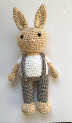 Berry Patch Bunny Boy Version - A Free Amigurumi Pattern - crochet . - Berry Patch Bunny Boy Version – A free amigurumi pattern – crochet pattern - Easter Crochet, Crochet Bunny, Crochet Animals, Free Crochet, Crochet Penguin, Crochet Patterns Amigurumi, Amigurumi Doll, Crochet Dolls, Crochet Eyes