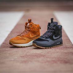 Build them high and build them tough the Women's Nike Air Max 1 Mid Sneakerboot in Black and Tawny drop tomorrow online & in store #approved #FootLockerEU #Nike #AirMax #Sneakerboot #Winter #Warmers #sneakerfreaker #kicksonfire #heavyhitters by footlockereu