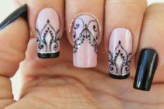 Lace Nail Art, Lace Nails, Nail Art Diy, Glow Nails, My Nails, Coffin Nails, Acrylic Nails, Henna Nails, Witchy Nails