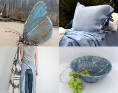 i love blue butterflies by greylittlemouse on Etsy--Pinned with TreasuryPin.com