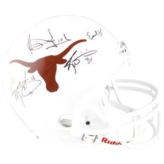 Earl Campbell, Ricky Williams, Colt McCoy, Vince Young Texas Longhorns Fanatics Authentic Autographed Riddell Replica Helmet - Black ink - $599.96