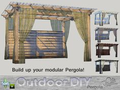Sims 4 CC's - The Best: Pergola by BuffSumm