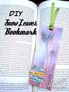 DIY leaves craft bookmark