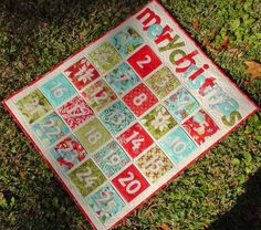 Pocket Advent Calendar Quilt Pattern $8.00 on Craftsy at http://www.craftsy.com/pattern/quilting/home-decor/pocket-advent-calendar-quilt-pattern/17705