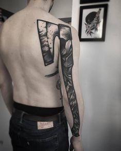 Axe tattoo by @felix_ardsen_tattoos at Hold Fast Tattoos in Leipzig Germany #felix_ardsen_tattoos #felixardsen #holdfasttattoos #leipzig #germany #axetattoo #blackworktattoo #tattoo #tattoos #tattoosnob