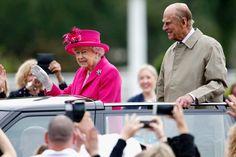 Auf Grün folgt Pink: Zur Feier ihres 90. Geburtstags zeigte sich Königin...