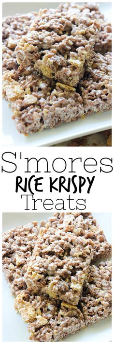 S'mores are a classic summer time treat and these S'mores Rice Krispy Treats need to be added to the summer time traditions!