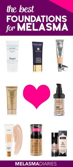 Here's a great list of foundations and BB creams that are the best for covering melasma, pregnancy mask and other hyperpigmentation on your face.