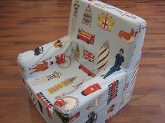Loose covered foam kids chair - in Linwood's washable fabric.