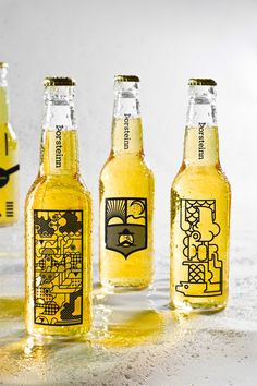 Branding and packaging for an Icelandic micro-brewery called Þorsteinn (Thorsteinn), which loosely translates into 'thirsty one'  - designed by  Þorleifur Gunnar Gíslason, Hlynur Ingólfsson and Geir Olafsson /  Iceland Academy of the Arts #design #corporate_branding