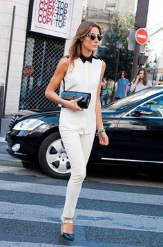 white fashion 20 WHITE pants? Why not! (26 photos)