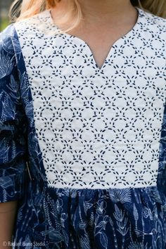I made a Sashiko stitched Hide-and-Seek Dress. I'm sharing my process and some…