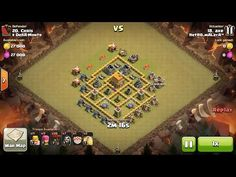 Clash of Clans TH6 vs TH6 Balloon & Wizard Clan War 3 Star Attack ⋆ Clash of Clans 3 Stars Clan Wars