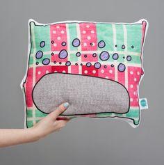 Mabel plushie plush monster cushion pillow toy www.rarrrdolls.co.uk