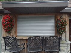 Looking to improve your home security? We offer a wide selection of residential security shutters. Give us a call to learn more! Garage Door Security, Security Shutters, Security Screen, Residential Security, Store Fronts, Improve Yourself, Garage Doors, Curtains, Outdoor Decor