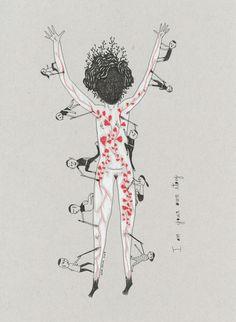 Elsa Mora's Three Drawings Inspired by Amanda Palmer
