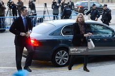 Princess Cristina de Borbon and her husband Inaki Urdangarin arrive at the courtroom at the Balearic School of Public Administration for summary proceedings on January 11, 2016 in Palma de Mallorca, Spain. Princess Cristina of Spain, sister of King Felipe VI of Spain, faces a tax fraud trial over alleged links to business dealings of her husband, Inaki Urdangarin. Princess Cristina co-owned with her husband a company called Aizoon alleged to be one of the companies used by the non-profit…