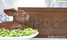 do it yourself, faux chocolate Easter decor