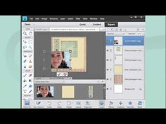 A video on how to use a digital scrapbooking kit and a photo to make a digital scrapbooking page in Photoshop Elements 11.