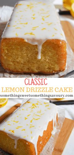 Easy Lemon Drizzle Cake is moist, light and absolutely delicious - try it and you willl be hooked! Lemon Recipes, Easy Cake Recipes, Easy Desserts, Baking Recipes, Sweet Recipes, Delicious Desserts, Dessert Recipes, Sweet Desserts, Drink Recipes