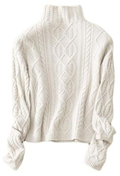 8d0f10150b Generic Womens Slim Turtleneck Ribbed Cable Knit Long Sleeve Pullover  Sweater -- Click on the