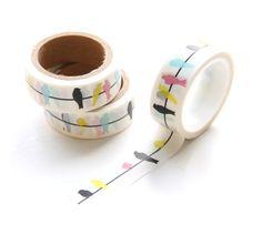 Japans masking tape vogels / birds gekleurd -
