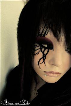 velvetcyberpunk:  Tribal Cyberpunk Makeup  Cult of the Tentacle