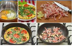 Scrambled eggs with bacon Scrambled Eggs, Bacon, Meat, Chicken, Breakfast, Food, Morning Coffee, Essen, Meals