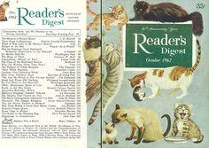 illustrations on the back of readers digest | Reader's Digest front and back cover, October 1962...