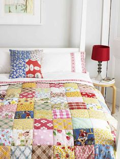 Patchwork quilt project  (Mollie Makes, February 2012)