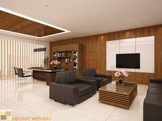 Thiết kế nội thất phòng giám đốc  PGD04