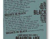 Wish List / Pearl Jam / Lyric / 8 x10 Digital Typography Poster