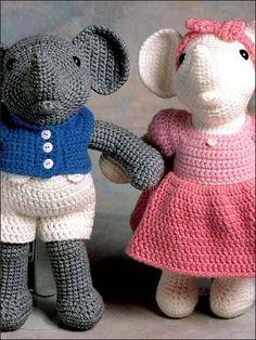 Reginald & Regina Elephant...She has the best name...I just love that name! LOL! ;)