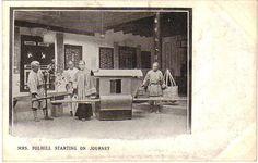 传教士坐轿子传教 1900s