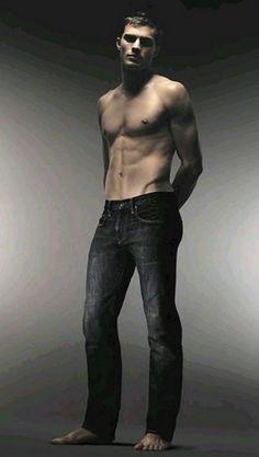 Jamie Dornan...love men in jeans with no shirt.