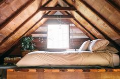 Such a perfect and cozy loft! | Coralie's Cozy, Southwest-Inspired One Room Cabin in the Pacific Northwest